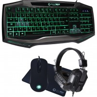Game Max Raptor RGB Gaming Kit with Keyboard, Mouse, Headset & Mouse Mat