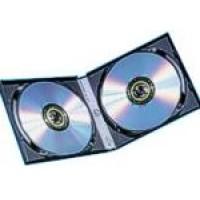 HALF SIZE 10mm DOUBLE BLACK DVD Storage Cases (LONG SPINE) - 20 BOX