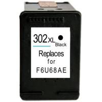 HP 302XL - F6U68AE - High Capacity Remanufactured Hewlett Packard 302XL BLACK Cartridge