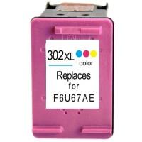 HP 302XL - F6U67AE - High Capacity Remanufactured Hewlett Packard 302XL TRI-COLOUR Cartridge