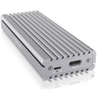 Icy Box External M.2 NVMe SSD Enclosure, USB 3.1 Gen2 Type-C (USB-A cable included), Aluminium, Thermal Pad