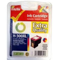 Inkrite NG Ink Cartridges (HP 300) for HP Deskjet D2500 D2560 F4275 - Hi-Cap COLOUR
