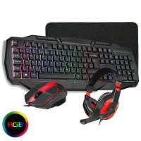 CiT RGB Builder 4 in1 Kit, Keyboard, Mouse, Headset, Mouse Mat Bundle