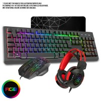 CiT Rampage USB Keyboard, Mouse, Mousepad and Headset Gaming Combo