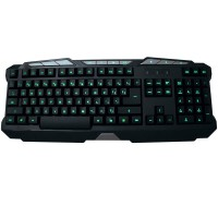 Powercool KB-768 LED USB Gaming Keyboard, Multi Colour/Brightness Multimedia Functions