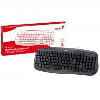 Genius KB-M200 Classic USB Multimedia Keyboard in Black