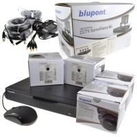 Blupont B-Secure 5MP 8 Channel DVR 2TB 4x 5MP IP66 Camera High Definition CCTV Kit