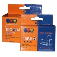 Compatible Kodak 10B and 10C Black and Colour Ink Cartridge Set