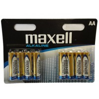 Maxell 723923 Alkaline AA 1.5v Batteries (8 per pack) - Retail