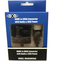 Maxam HDMI to VGA, SVGA Converter with USB Power
