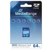 MediaRange MR965 SDXC 64GB Memory Card Class 10