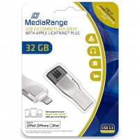 MediaRange MR982 32GB USB3.0 Combo Flash Drive with Apple Lightning Plug