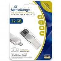 MediaRange MR982 32GB USB3.0 Combo Flash Drive with Apple Lightning Plug