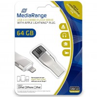 MediaRange MR983 64GB USB3.0 Combo Flash Drive with Apple Lightning Plug