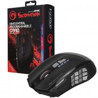 Marvo Scorpion G990 USB RGB LED Black Programmable High Performance Wired Gaming Mouse