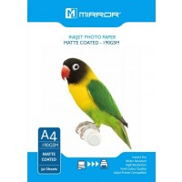 Mirror 190gsm Matte Coated Inkjet Photo Paper A4 - 50 Sheets Eco Pack