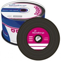 MediaRange Vinyl Look CD-R with BLACK Dye - 50 TUB - MR225