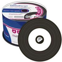 MediaRange MR226 Vinyl Look Inkjet Printable 80min/700MB CD-R with BLACK Dye - 50 TUB