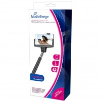 MediaRange MR706 Universal Selfie-Stick for Smartphones, with Cable