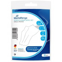 MediaRange MR726 Screen Cleaning Wipes, Wet, Single Packed in Packs of 10