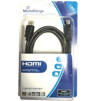 MediaRange 4K / UHD HDMI to HDMI High Speed Cable with Ethernet, Gold-Plated Contacts, 18 Gbit/s Transfer Rate - 1.8m