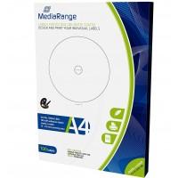 MediaRange MRINK130 Labels for CD/DVD/BDS - 118 mm, Matt Coated, 100 Labels
