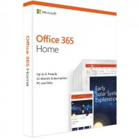 Microsoft Office 365 2019 1 Year 6 User Home with Word/Excel/Powerpoint