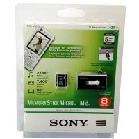 Sony MS-A8GU2 8GB Memory Stick Micro (M2) Media with USB Adapter - Retail