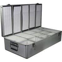 Neo Media 1000 Disc Aluminium CD/DVD Silver DJ Style Carry Case - Retail