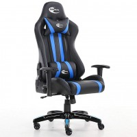Neo High Back Racing Gaming Chair Black / Blue with Arm Rests