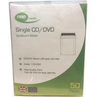 Neo Media Cardboard Single Peel & Seal CD / DVD Disc Mailer - 50 PACK