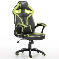 Neo Morpheus Racing Bucket Gaming Chair Black / Green with Arm Rests