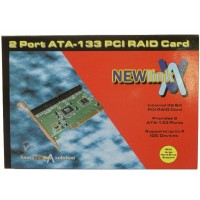 NEWLink 2 Port ATA-133 RAID/IDE Controller PCI Card - Retail