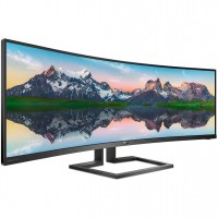 Graded Stock - Philips 498P9 49Inch DQHD VA Adaptive-Sync Curved Super Ultrawide Monitor - 498P9