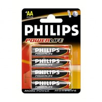 Philips Powerlife LR6PB4C/10 Alkaline AA 1.5v Batteries - 4 per pack