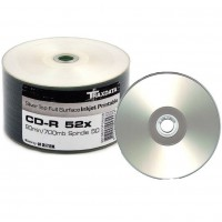 Traxdata SILVER FULL FACE Printable 52x 80min CD-R - 50 PACK