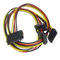 SATA Power Splitter 1 to 3 way SATA Adapter 15 pin to 3 x 15 pin