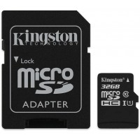 Kingston SDCS 32GB Micro SD Canvas Class 10 UHS-I Memory Card with SD Adapter