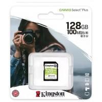 Kingston Canvas Select Plus V30 128GB SD Class 10 UHS-I U3 Flash Card