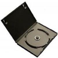Single BLACK Standard DVD 14mm Storage Cases - 100 BOX
