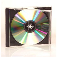 SINGLE CD/DVD Jewel Case (BLACK INSERT) - 100 BOX
