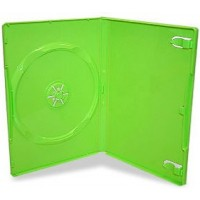 Single GREEN Standard DVD 14mm Storage Cases - 10 BOX