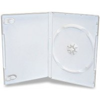 Single WHITE Standard DVD 14mm Storage Cases - 10 BOX