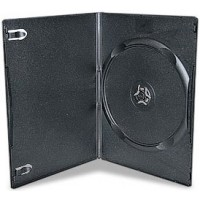 SUPER SLIMLINE 7mm Single BLACK DVD Storage Cases - 100 BOX