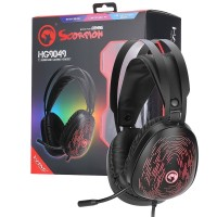 Marvo Scorpion HG9049 7.1 Virtual Surround Sound 7 Colour LED Gaming Headset - PC, PS3, PS4, Xbox One, Xbox 360, Phone