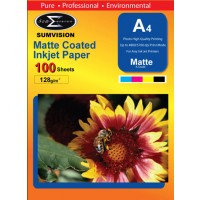 Sumvision Matt White Photo Inkjet Paper A4 128gsm - 100 SHEETS