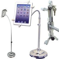 Universal Anti-Theft Tablet PC/iPAD/e-Reader Secure Floor Display Stand - Lockable - Key Locked