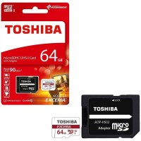 Toshiba Exceria 64GB M302 4k 90MBPS Micro SD With Adapter