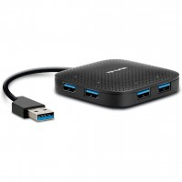 TP-LINK UH400 USB 3.0 4-Port Portable Hub, Foldable Cord, LED Indicators