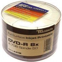 Traxdata Ritek FULL FACE Printable 8x DVD-R in 50 Pack